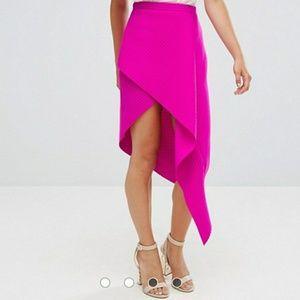 Asos hot pink skirt